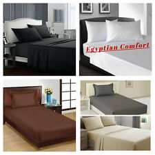 Egyptian Comfort 1900 Series Flat Bed Sheets Full,Queen King Size Bed Top Sheet