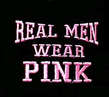 Breast Cancer T Shirt 5XL Real Men Wear Pink Awareness Black Cotton Blend New
