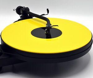 Gloss Yellow Acrylic Turntable Platter Mat. Fits Rega, Pro-Ject!