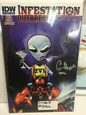 infestation outbreak #4 cvr B signed by chris ryall