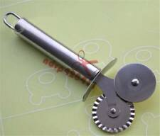 316 Stainless Steel Wheel Cutter Flat & Fluted Wheel Pizza Pastry Pasta Dough