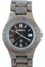 Bewell reloj de madera fecha 43mm Sandelholz-rot hombre o talla mujer producto a