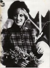 Princess Diana British Royal Family Rare Original Press  Photo in Tartan outfit
