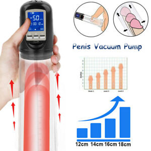 LCD Automatic Electric Male Penis Vacuum Penis Pump Cup Extender Enhancer Helper