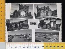 47299] RIMINI - SALUTI DA RIMINI - VEDUTE - PORTO CANALE E FARO _ 1954