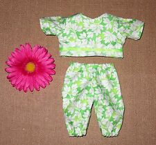 "Handmade Doll Clothes for 11"" - 13"" Baby Dolls - ""Spring is Here"" 2pc Play Set"