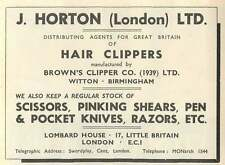 1953 J Horton Hair Clippers Lombard House Little Britain Ad