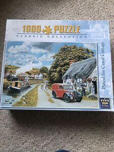King CANAL COTTAGE classic jigsaw Puzzle 1000 pcs. Train, postman.Trevor Mitchel