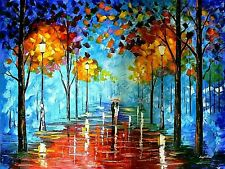 "Leonid Afremov-""Misty Vibrations""-ORIGINAL Oil Painting/Canvas/Hand Signed/COA"