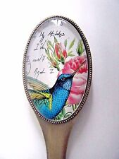 Blue Humming Bird Design Letter Opener Bronze And Glass New In Gift Box