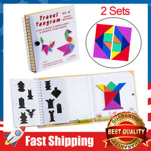 Tangram 360 Magnetic Puzzle Educational Montessori Jigsaw STEM Toy for Kids