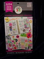 MAMBI Happy Planner WEEKEND& PRACTICAL STICKER BOOK 1234pc(red)