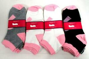 12 Pair Women's Ankle Socks 9-11 Pink Ribbon Breast Cancer Awareness Pink A-19