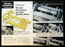 Wood Turning Jig use your Table Saw as Wood Lathe How-To build PLANS