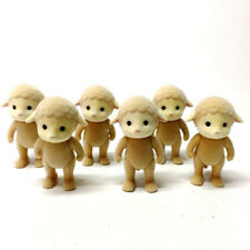 """Lot 6PCS Sylvanian Family Sheep Family Mon Mommy Mother 3"""" Figure cute doll gift"""