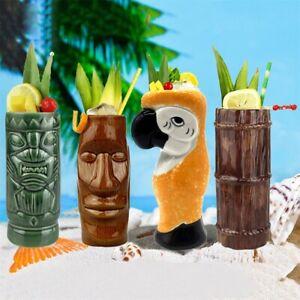 Tiki Mugs Cup Cocktail Ceramic Hawaiian Exotic Glasses Bar Drinkware 400 - 600ML