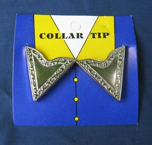 Collar points tips tabs western shirt silver color square dance cowboy NEW