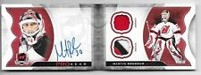 15-16 UD THE CUP PRO GEAR AUTOGRAPH DUAL PATCH #APG-MB MARTIN BRODEUR AUTO 4/12