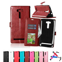 Magnetic Flip Stand Card Wallet PU Leather Case Cover for Asus Zenfone Phones