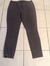 Women Sz 10 Seven7 Gray Snake Print Stretch Slim Leggings Zipper Detail EUC