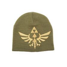 OFFICIAL THE LEGEND OF ZELDA TRIFORCE GREEN/ BEIGE BEANIE HAT *BRAND NEW*