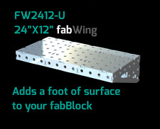 """CertiFlat FW2412 24""""X12"""" FabWing Extension Table for Pro & FabBlock Tables - HD"""