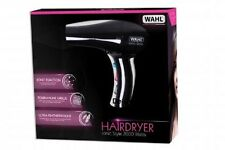 Black WAHL Professional 2000W Ionic Style Hairdryer Lightweight Hair Blow Dryer