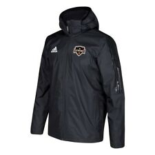 Houston Dynamo MLS Adidas Men's Team Patch Black Coaches ClimaStorm Jacket
