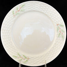 """ENCHANTED HOLLY Dinner Plate by Belleek 10"""" diameter NEW NEVER USED made Ireland"""