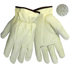 100% Leather Genuine Cow Grain Work / Driver Gloves Size Large NEW FREE SHIPPING