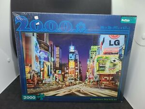 """Times Square 2000 Pieces Jigsaw Puzzle, 38"""" x 26"""" Buffalo Games New Sealed"""