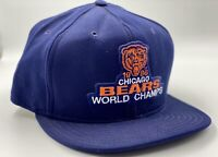 Vintage 1986 Chicago Bears NFL World Champs Snapback Hat Cap AJD Made In USA!
