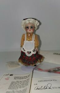 "Marie Osmond ""Mrs Claus"" Porcelain Doll Petite Amour Series in Original Box!"