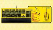 Genuine Razer POKEMON PIKACHU Edition Ornata/ Deathadder / Mouse Pad combo