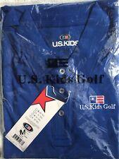 New Women's Us Kids Golf Polo Shirt - Blue. Size Medium