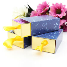 50pc Kraft Paper Starry Sky Drawer Candy Gifts Boxes Chocolate Bag Wedding Favor