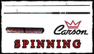 CANNA DA SPINNING 2.40Mt az. 5/10g CARSON BLACK BASS TROTA CAVEDANO PESCA LAGO