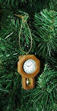 Vintage, Antique Looking New Regulator, Railroad Clock Christmas Ornament
