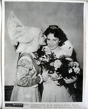 PHOTO PARIS SOIR 1936 REINE et IMPÉRATRICE DE PROVINCE Mlle PAULET Mlle CAPRON