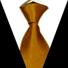 Goldenrod Men's Solid color Wedding Groom Party Neck Tie 100% Silk Necktie S01