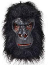 Gorilla Mask Full Overhead Latex Fur Monkey Fancy Dress