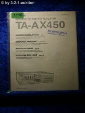 Sony Bedienungsanleitung TA AX450 Stereo Amplifier  (#1110)