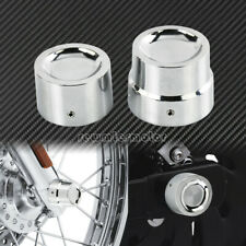 Chrome Rear Axle Nut Cover Cap Fit For Harley Dyna Super Glide Heritage Softail
