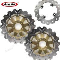 Front & Rear Brake Disc Rotors For Kawasaki Z1000 Z 1000 Z-1000 2003-2006 Gold