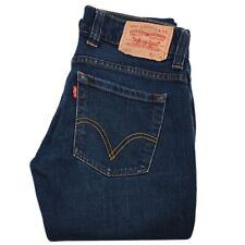 Levi's 603 Skinny Slim Women's Jeans Size W27 L34 Dark Blue Genuine Riveted Zip