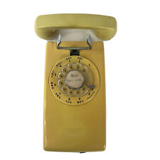 Vintage Western Electric 554 Bmp Rotary Wall Phone Telephone Mustard Yellow Gold