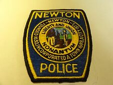 LAW ENFORCEMENT PATCH POLICE NEWTON POLICE FOUNDED 1630 TOWN 1688 CITY 1873
