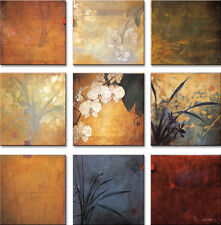 "9 SEPARATE 12""x12"" each ORCHID NINE PATCH by DON LI-LEGER 9PC CANVAS"