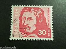 SUISSE SCHWEIZ 1969, timbre 843, F. BORROMINI, CELEBRITE, CELEBRITY, oblitéré