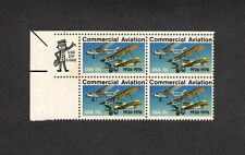SCOTT # 1684 Commercial Aviation Issue U.S. Stamps MNH - Zip Block of 4